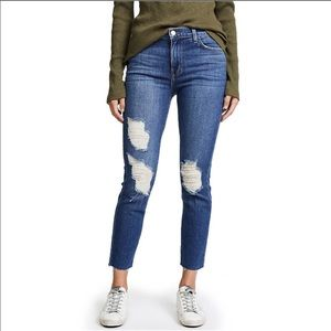 L'AGANCE Marcelle French Slim Fit Distressed Jeans